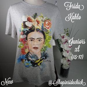 🍓$12 Frida Kahlo Hawaiian Graphic Tee NEW Juniors